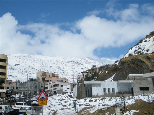 שלג מג'דל שמס